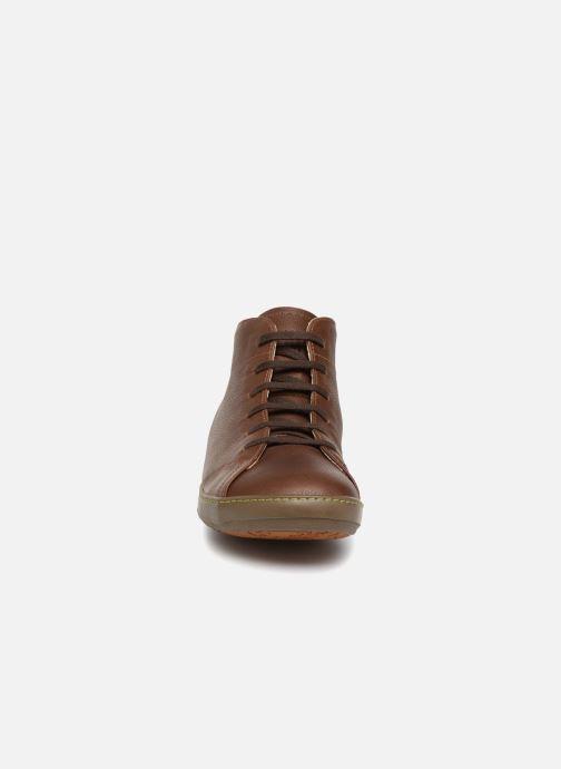 Chaussures à lacets El Naturalista Meteo N212 Marron vue portées chaussures