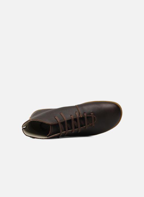 Zapatos con cordones El Naturalista Viajero N267 M Marrón vista lateral izquierda