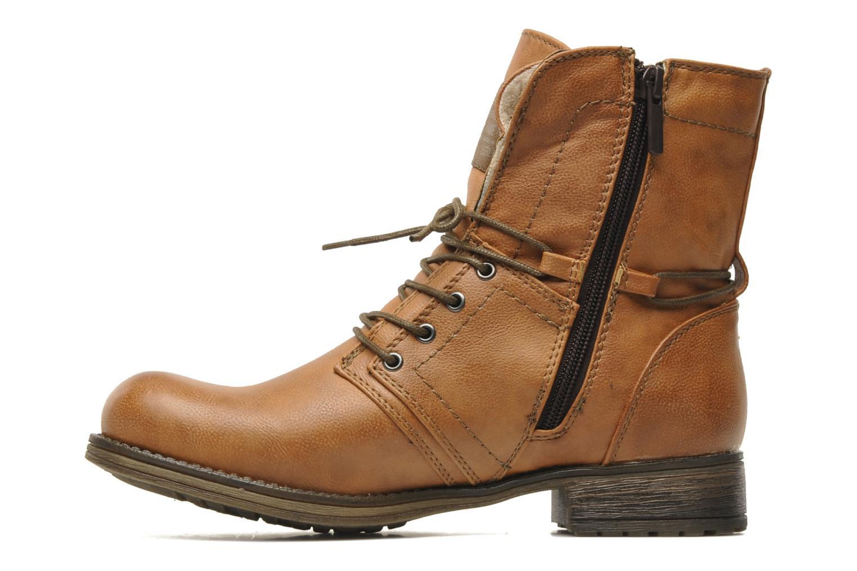 Bottines et boots Mustang shoes Irina Marron vue face
