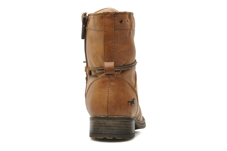 Bottines et boots Mustang shoes Irina Marron vue droite