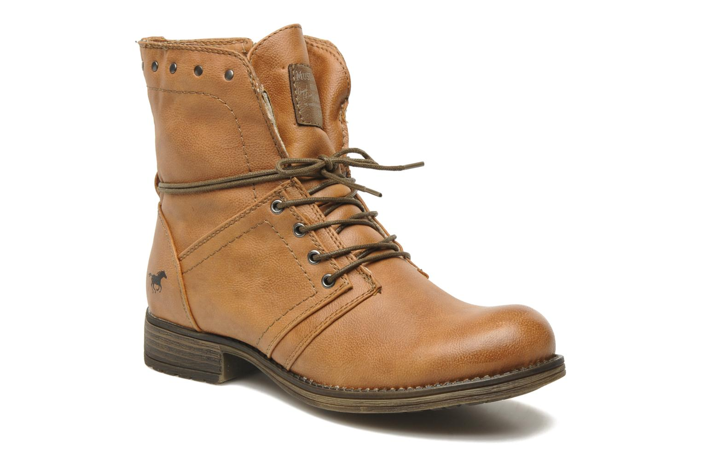 Bottines et boots Mustang shoes Irina Marron vue détail/paire