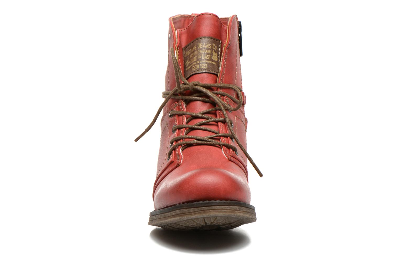 Bottines et boots Mustang shoes Irina Rouge vue portées chaussures
