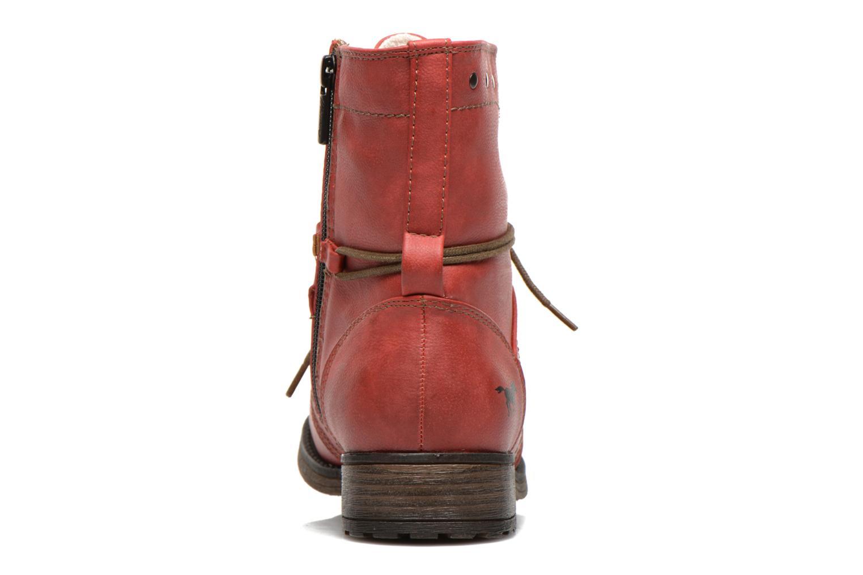 Bottines et boots Mustang shoes Irina Rouge vue droite