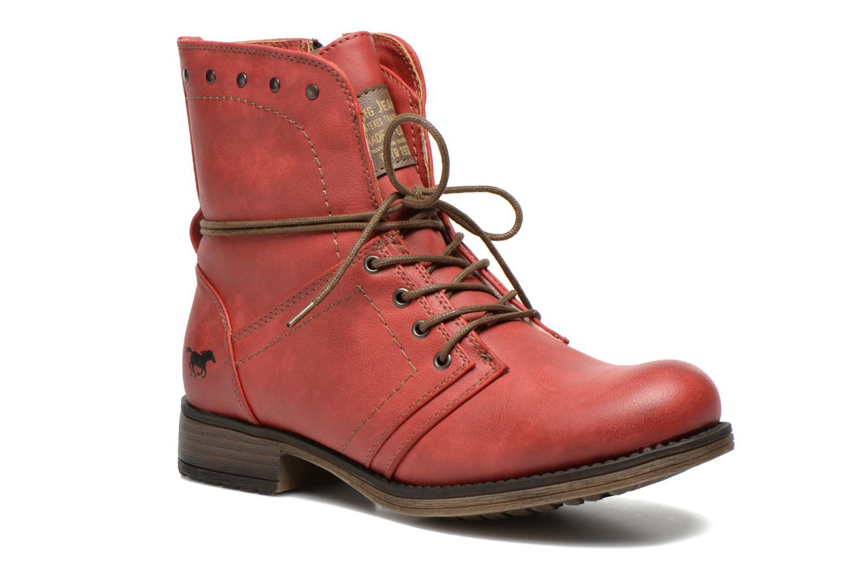 Bottines et boots Mustang shoes Irina Rouge vue détail/paire