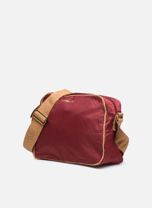 Handtaschen Bensimon Small Besace weinrot schuhe getragen