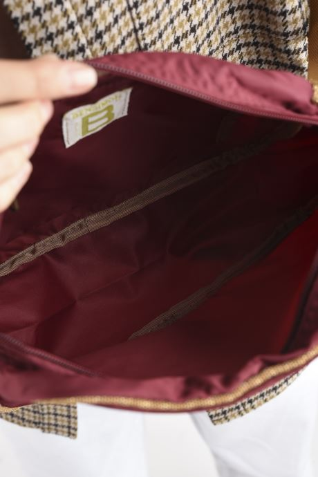 Handtaschen Bensimon Small Besace weinrot ansicht von hinten