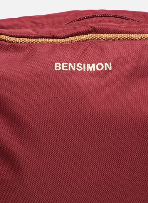 Handtaschen Bensimon Small Besace weinrot ansicht von links