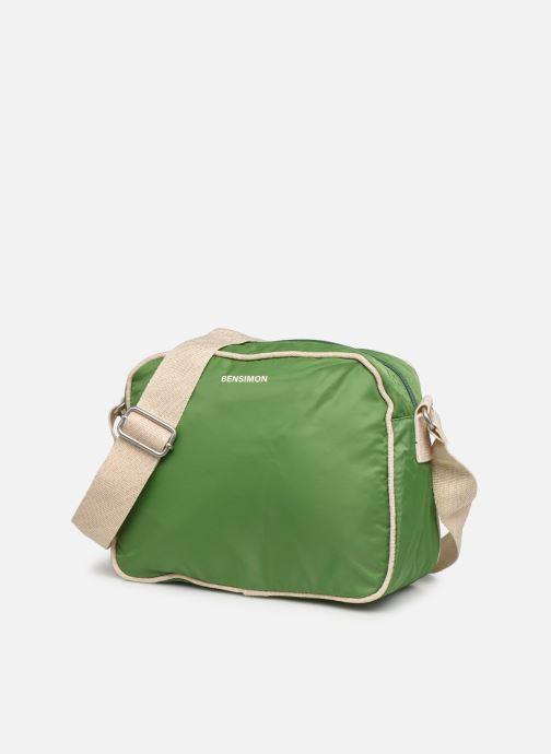 Handtaschen Bensimon Small Besace grün schuhe getragen