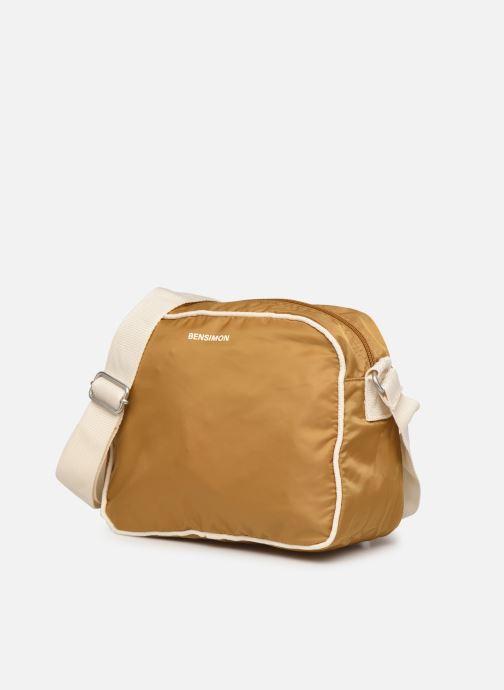 Handtaschen Bensimon Small Besace braun schuhe getragen