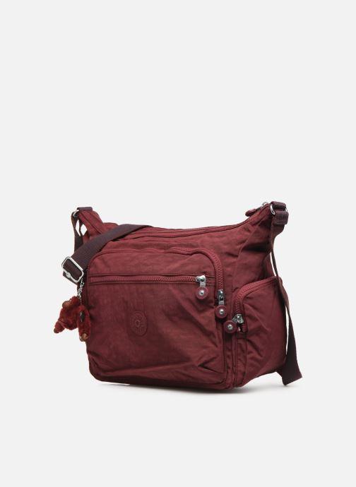 Handtaschen kipling Gabbie weinrot schuhe getragen