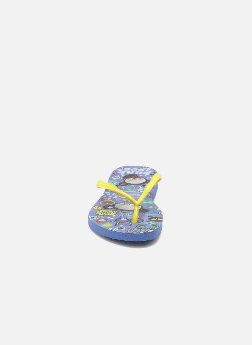 Tongs Havaianas Kids Slim Pucca Bleu vue portées chaussures