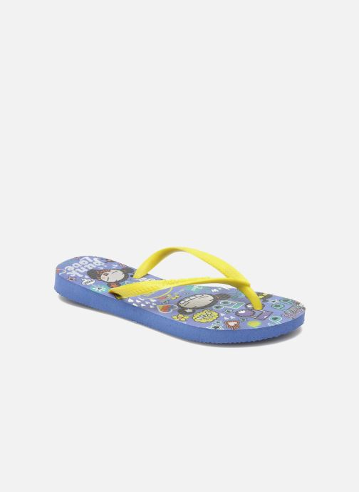 Tongs Havaianas Kids Slim Pucca Bleu vue détail/paire
