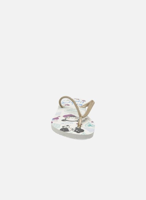 Flip flops Havaianas Kids Slim Pucca White model view