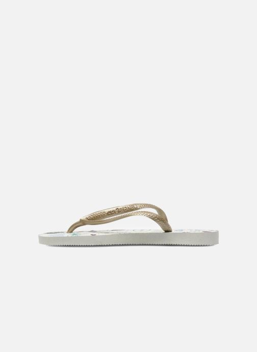 Chanclas Havaianas Kids Slim Pucca Blanco vista de frente