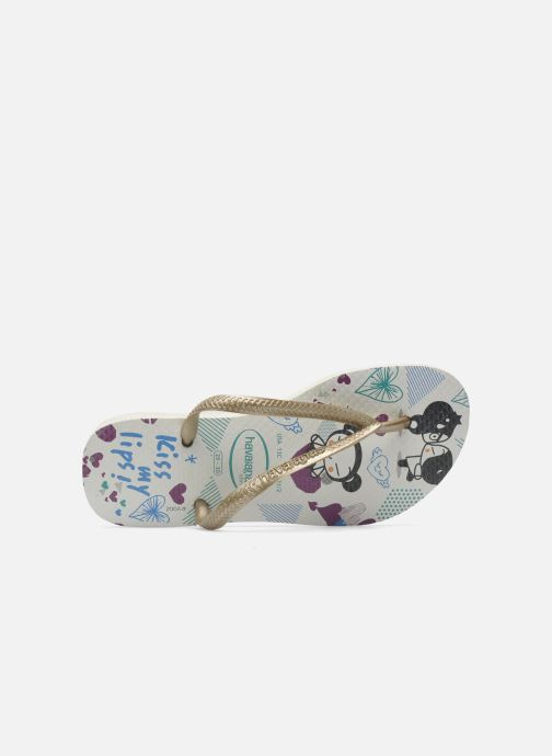Flip flops Havaianas Kids Slim Pucca White view from the left