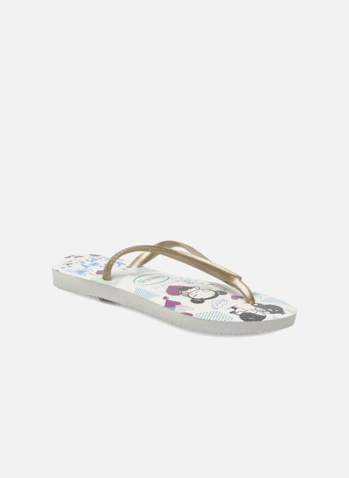 Flip flops Havaianas Kids Slim Pucca White detailed view/ Pair view