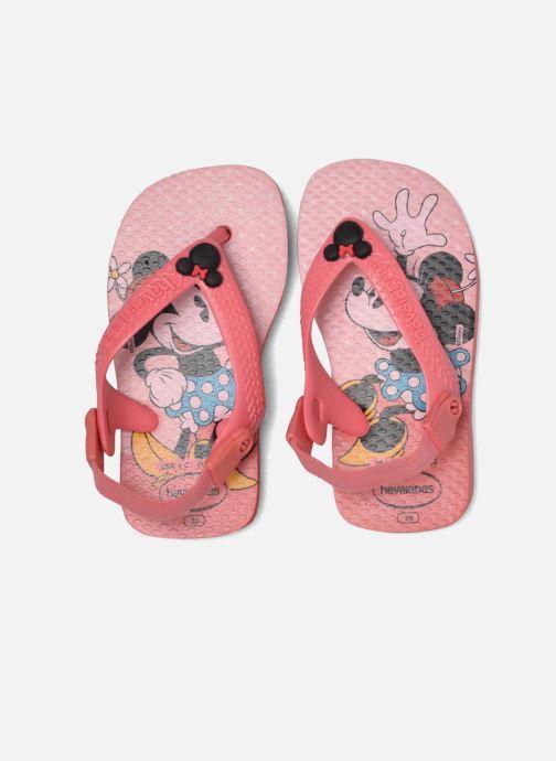Tongs Havaianas Baby Disney Classic Rose vue 3/4