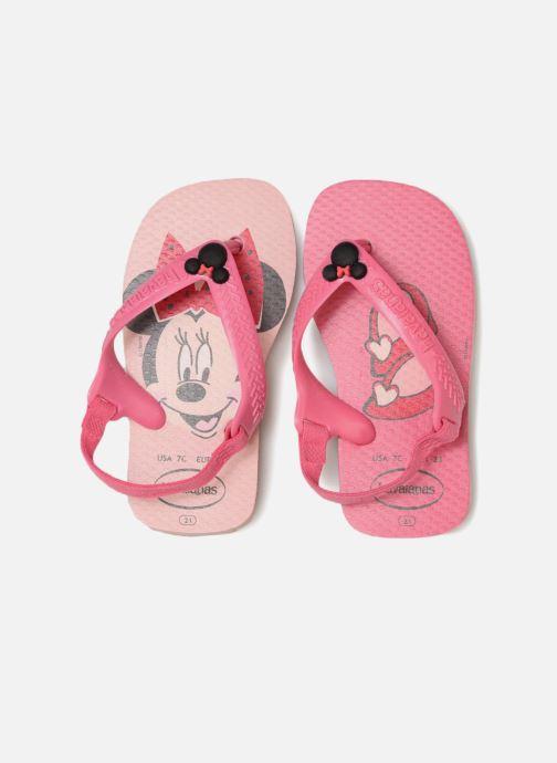 Infradito Havaianas Baby Disney Classic Rosa modello indossato