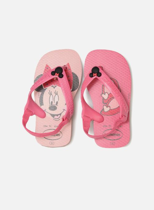 Tongs Havaianas Baby Disney Classic Rose vue portées chaussures