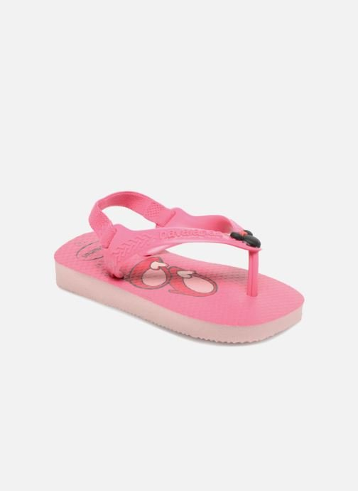 Tongs Havaianas Baby Disney Classic Rose vue détail/paire