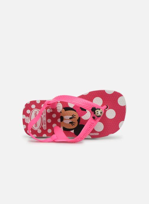 Chanclas Havaianas Baby Disney Classic Rosa vista lateral izquierda