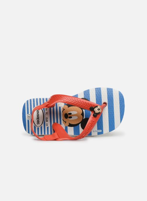 Tongs Havaianas Baby Disney Classic Rouge vue gauche
