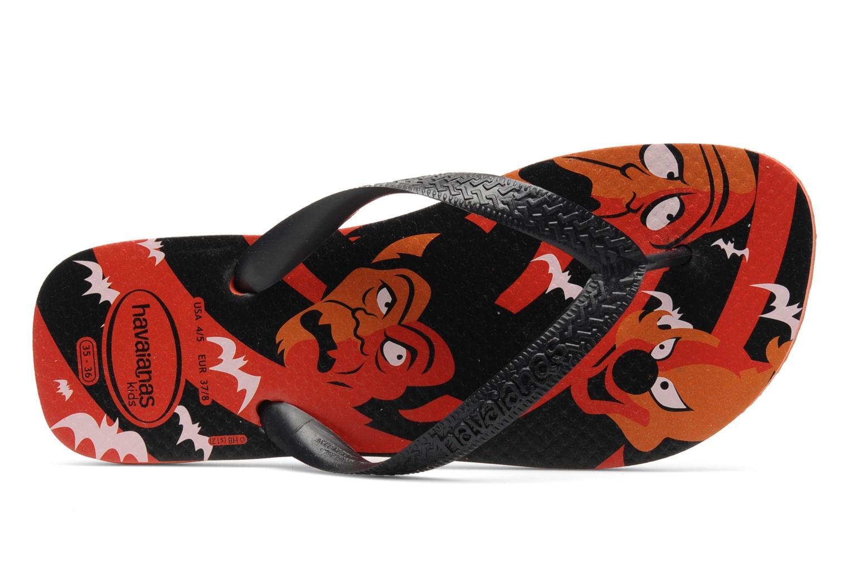 Chanclas Havaianas Kids Scoobydoo Naranja vista lateral izquierda