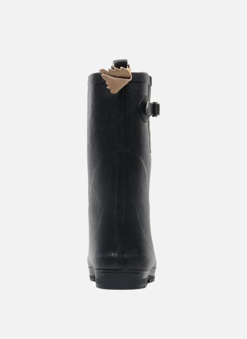 Stiefel Aigle Woody Pop Fur blau ansicht von rechts