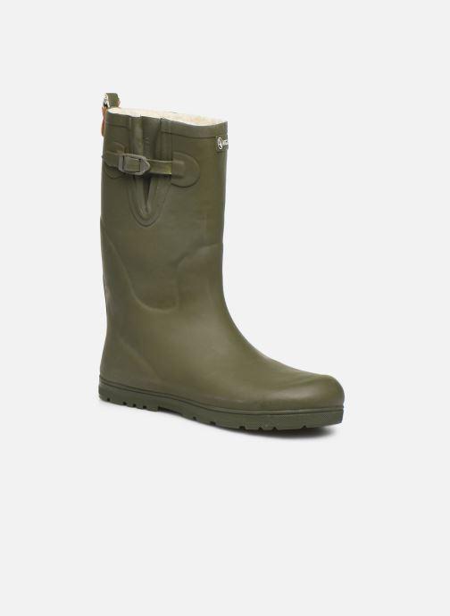 Støvler & gummistøvler Aigle Woody Pop Fur Grøn detaljeret billede af skoene