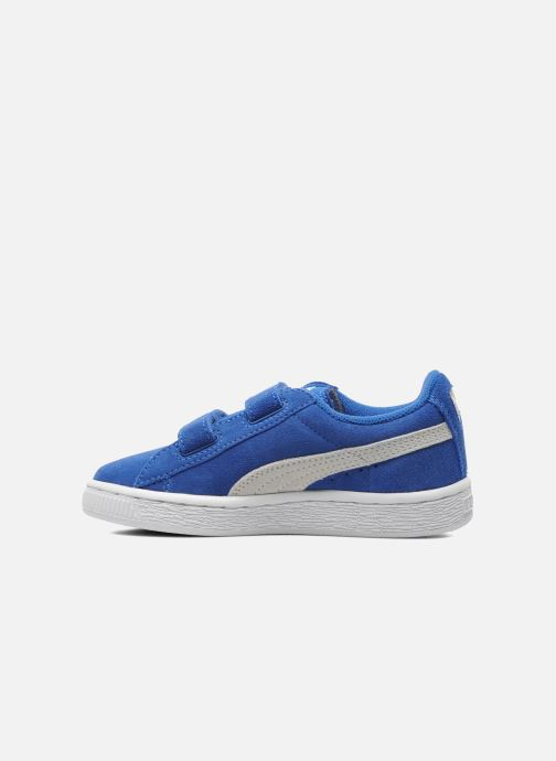 Sneakers Puma Suede 2 Straps Kids Blauw voorkant