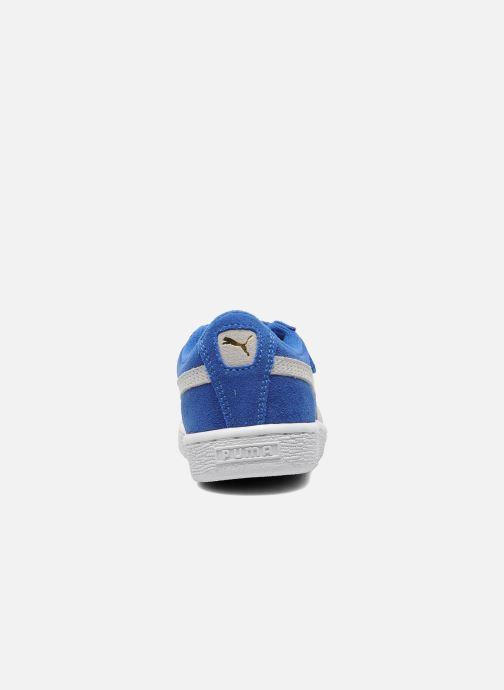 Baskets Puma Suede 2 Straps Kids. Bleu vue droite