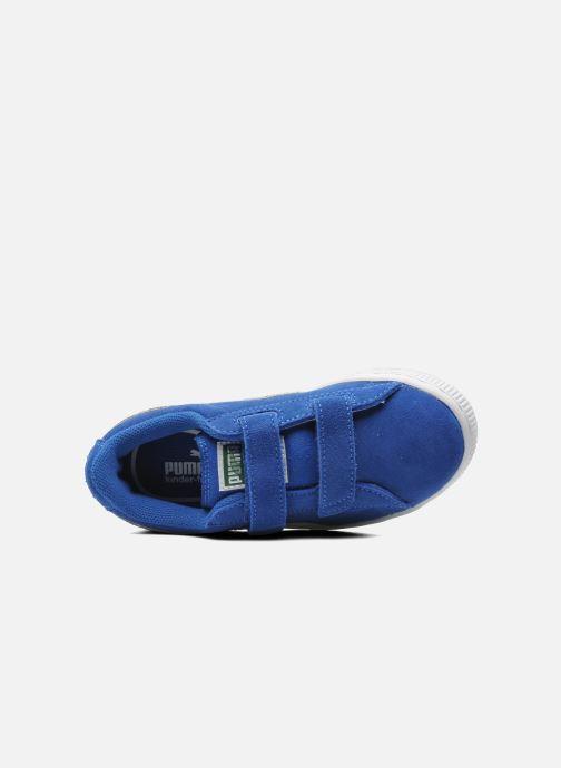Sneakers Puma Suede 2 Straps Kids Azzurro immagine sinistra