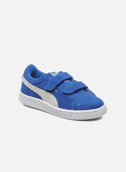 Sneakers Puma Suede 2 Straps Kids Azzurro vedi dettaglio/paio
