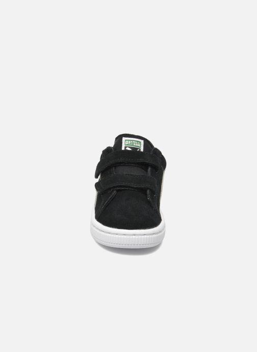 Baskets Puma Suede 2 Straps Kids Noir vue portées chaussures