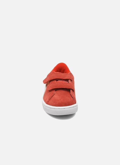 Sneakers Puma Suede 2 Straps Kids. Rood model