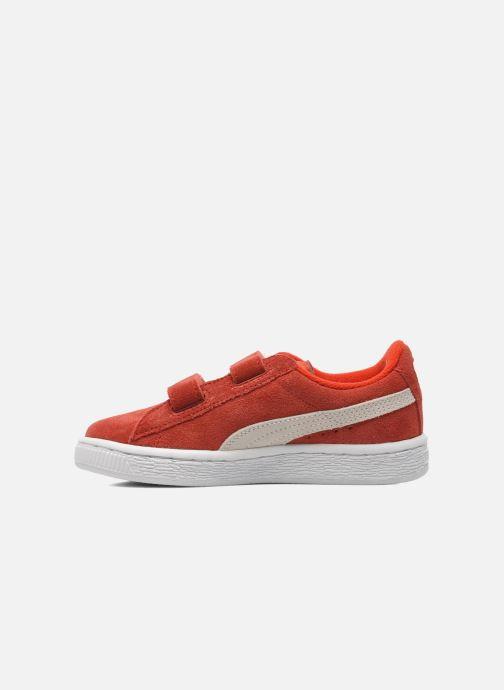 Sneakers Puma Suede 2 Straps Kids. Rood voorkant