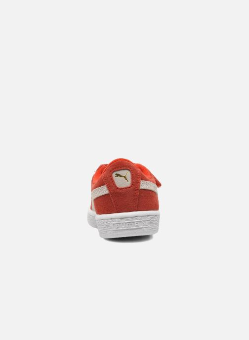Sneaker Puma Suede 2 Straps Kids rot ansicht von rechts