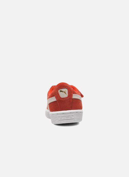 Baskets Puma Suede 2 Straps Kids Rouge vue droite