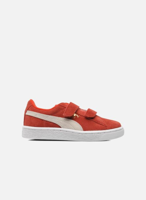 Sneakers Puma Suede 2 Straps Kids. Rood achterkant