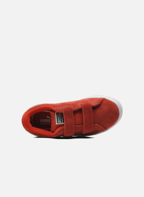 Sneaker Puma Suede 2 Straps Kids rot ansicht von links