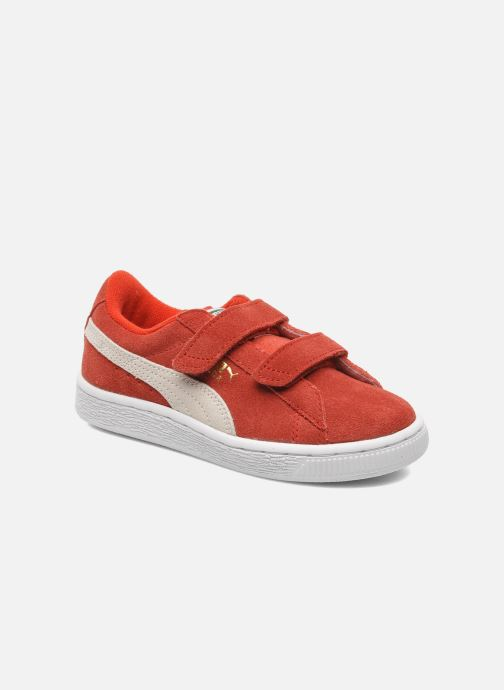 Sneakers Puma Suede 2 Straps Kids. Rood detail