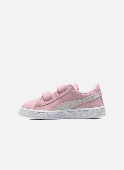 Sneakers Puma Suede 2 Straps Kids Roze voorkant