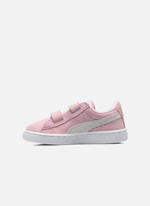 Sneakers Puma Suede 2 Straps Kids Rosa immagine frontale