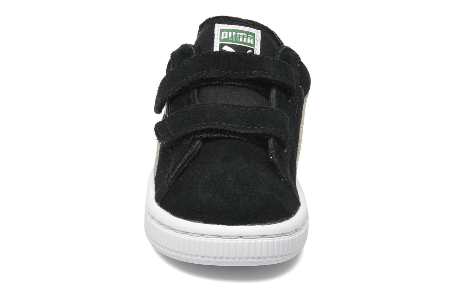 Trainers Puma Suede 2 Straps Kids. Black model view
