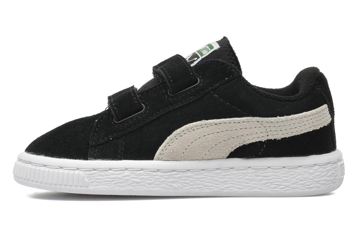 Trainers Puma Suede 2 Straps Kids. Black front view