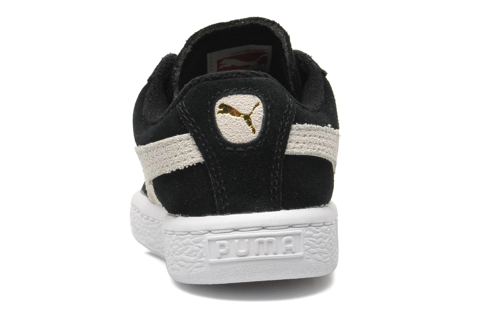 Trainers Puma Suede 2 Straps Kids. Black view from the right