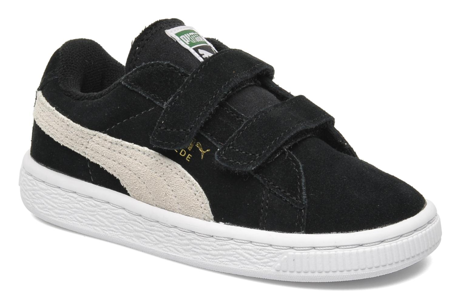 Trainers Puma Suede 2 Straps Kids. Black detailed view/ Pair view