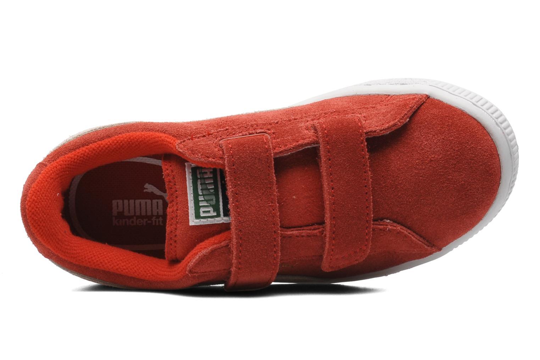 Baskets Puma Suede 2 Straps Kids. Rouge vue gauche