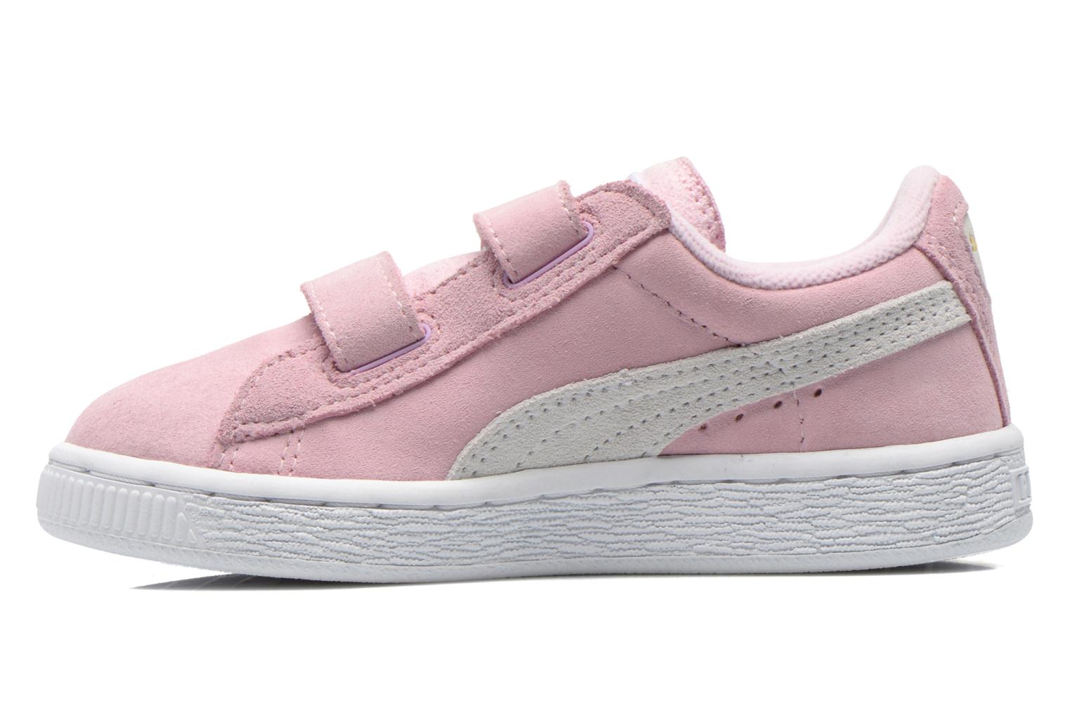 Trainers Puma Suede 2 Straps Kids. Pink front view