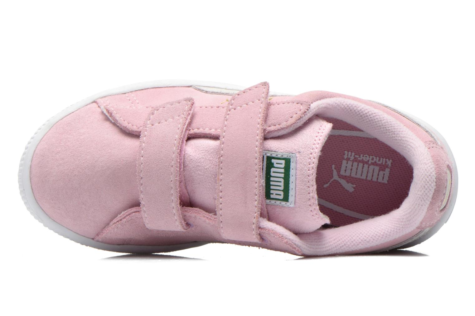 Trainers Puma Suede 2 Straps Kids. Pink view from the left